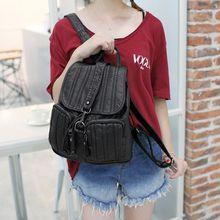 2017 Для женщин мягкая Пояса из натуральной кожи рюкзак рюкзаки для девочек-подростков школьные сумки повседневные сумки женские сумки на ремне женские C228