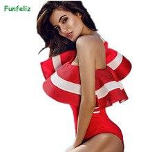 Женский купальник с оборками, Цельный купальник на одно плечо, Ретро стиль, винтажный боди, сексуальный комбинезон, женская пляжная одежда