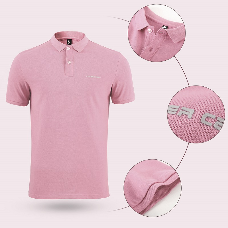 Men Polo Shirt Men Business Casual Solid Male Polo Shirt Short Sleeve High Quality Pure Cotton 32