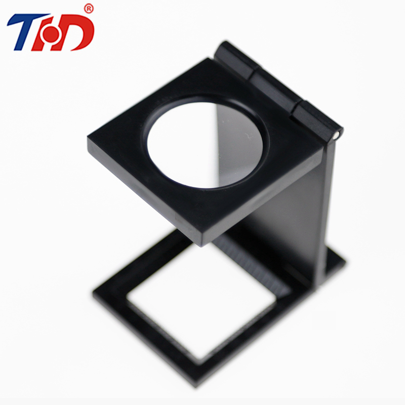 THD Portable 10 LED Light Folding glue magnifier Magnifying Glass Desk-type Handheld Foldable Loupe