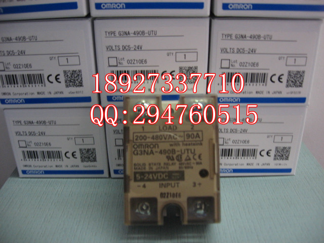 [ZOB] 100% new original OMRON Solid State Relays G3NA-490B-UTU-2 DC24V [zob] new original omron omron solid state relay g3na 290b utu 2 dc5 24