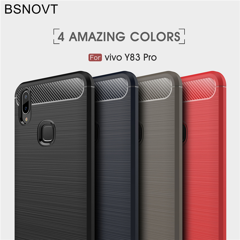 BSNOVT For Vivo Y83 Pro Case For Vivo Y83 Pro Cover Shockproof Silicone Brushed Bumper Back Case Vivo Y83 Pro Phone Fundas 6.22