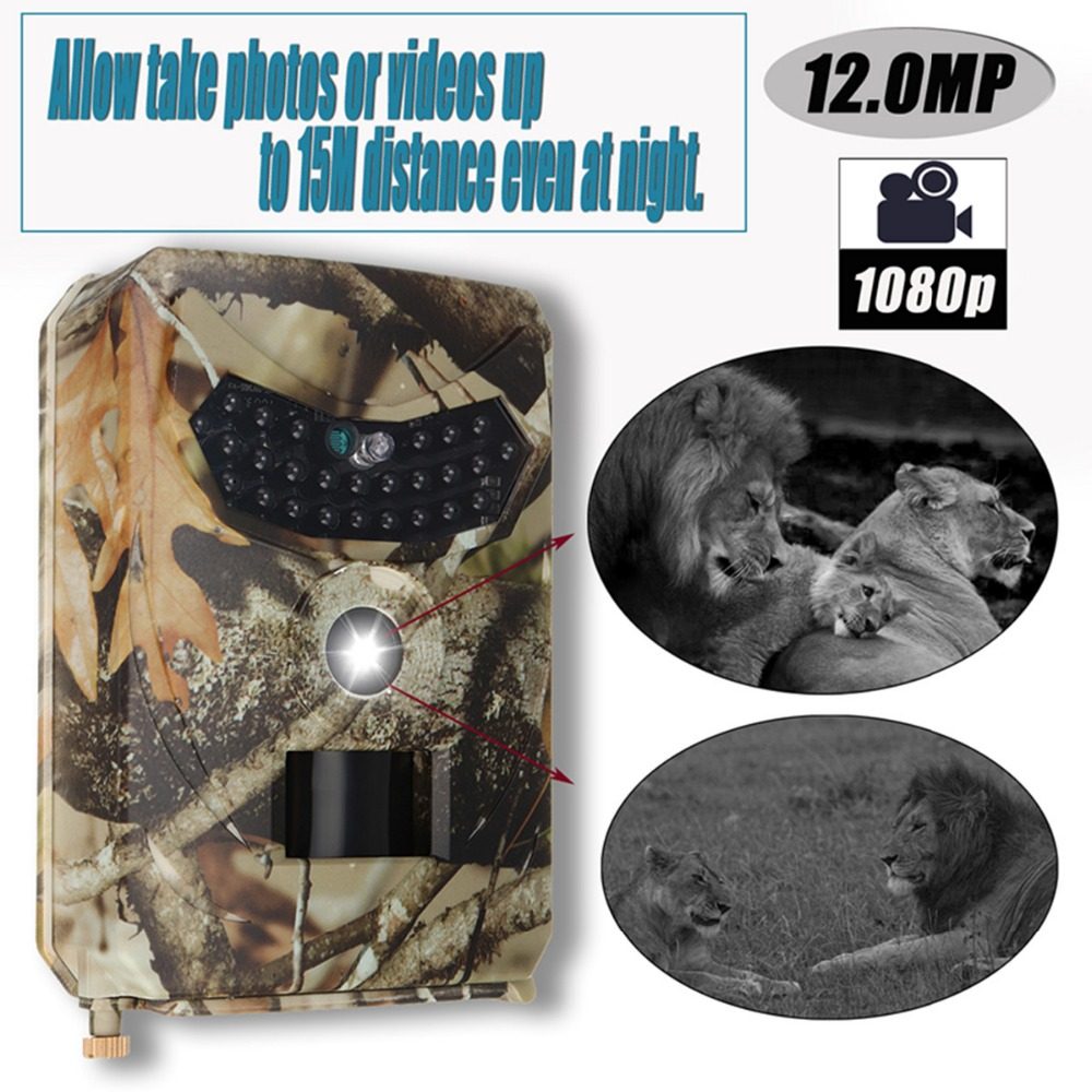 Hunting Trail Camera 12.0MP 1080p Hunting Camera Trail Scouting Wildlife Night Vision IR Cut Infrared CE ROHS FCC