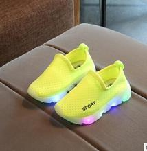 Wholesale 5 pairs 2017 new children s shoes boys and girls fashion cute flashing LED lights
