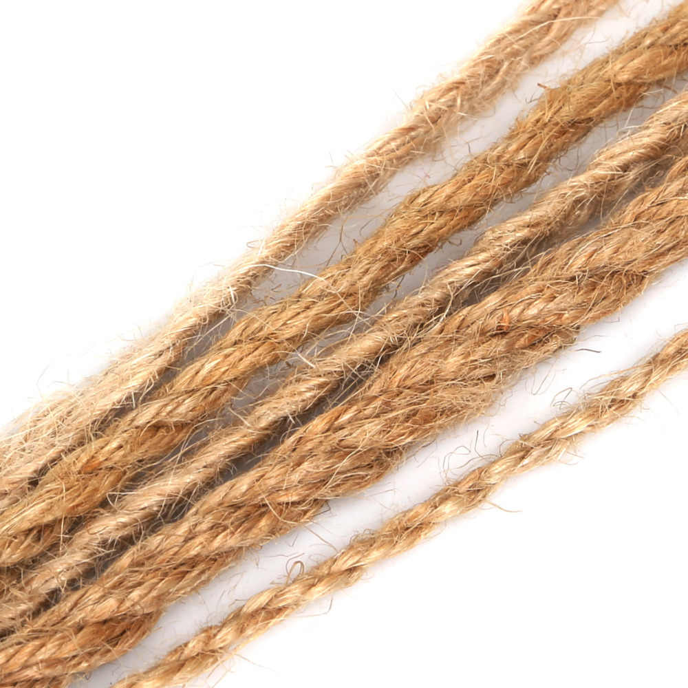 5M/lot Natural Hessian jute Twine Rope 2/4/6mm Burlap Ribbon For DIY Rustic Wedding Christmas Party Decoration Accessories