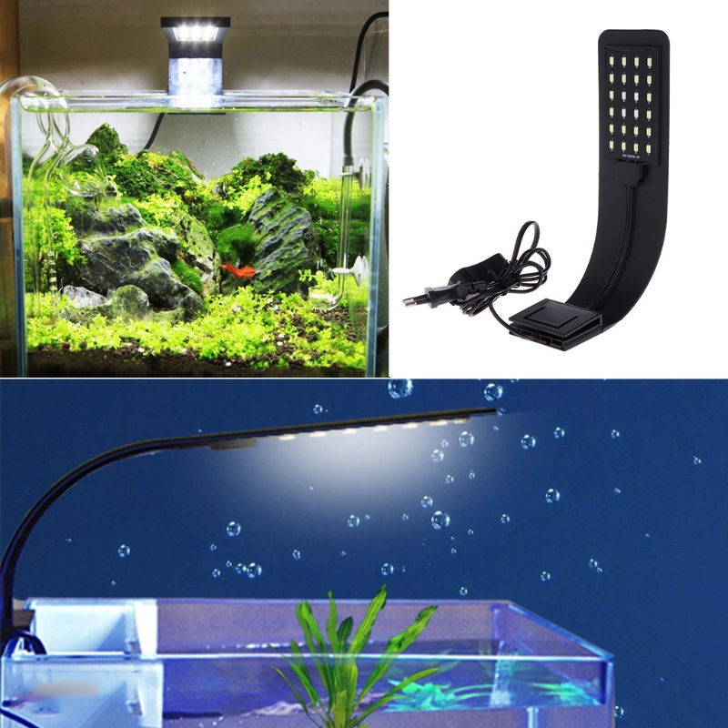 10W High Brightness Aquarium Fish Tank 5730 LED Light Energy-Saving Lamp EU Plug