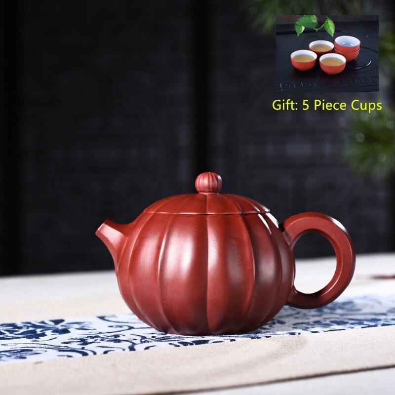 Yixing Purple Clay Tea Pot Genuine All Hand Made Dahongpao Xi Shi Pot Kung Fu Teapot Bonus 5 Piece Cup Tea Set Free Shipping