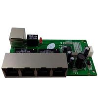 OEM mini schalter mini 5 port 10/100 mbps netzwerk schalter 5-12 v breite eingangs spannung smart ethernet pcb rj45 modul mit led eingebaute