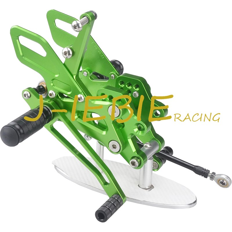 CNC Racing Rearset Adjustable Rear Sets Foot pegs Fit For Kawasaki NINJA ZX10R 2004 2005 GREEN cnc racing rearset adjustable rear sets foot pegs fit for ducati streetfighter 848 1098
