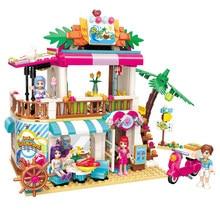527pcs Childrens Building Blocks Toy Compatible Legoings City Friends Girls Beach Seafood Restaurant Bricks Birthday Gifts