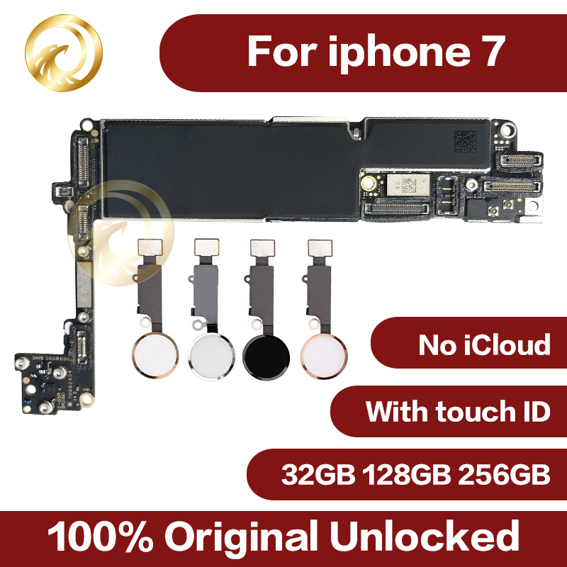 Original Unlocked For Iphone 7 Motherboard With Touch ID,Without Touch ID,32GB 128GB 256GB