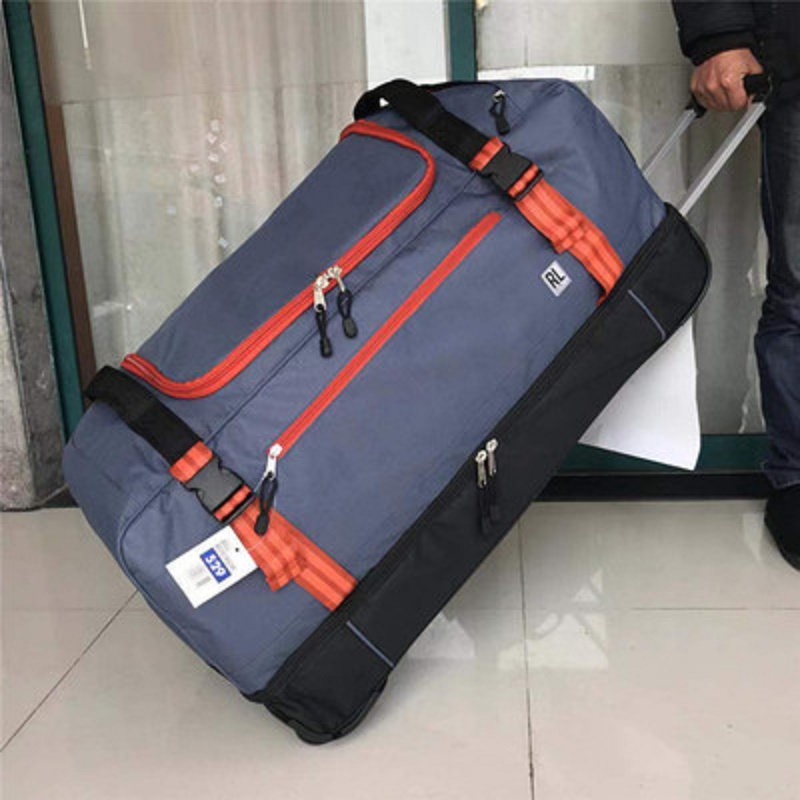 Bag-Abroad Trolley Suitcase Rolling-Luggage 30inch Folding Oxford Long Tripslarge-Volume