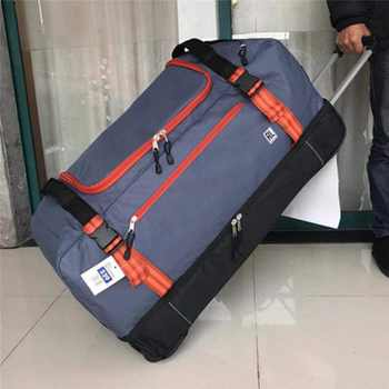 High quality for long tripsLarge volume 30 inch  Oxford rolling luggage bag abroad folding trolley suitcase - DISCOUNT ITEM  21% OFF All Category
