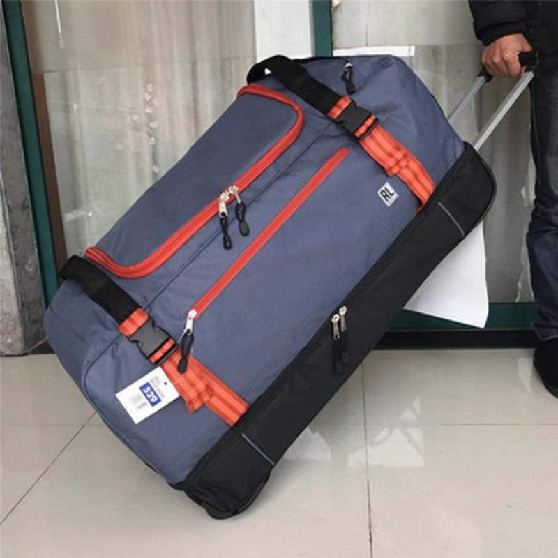 Gepäck & Reisetaschen Hohe Qualität Für Lange Tripslarge Volumen 30 Zoll Oxford Roll Gepäck Tasche Im Ausland Klapp Trolley Koffer Elegant Und Anmutig Gepäck & Taschen