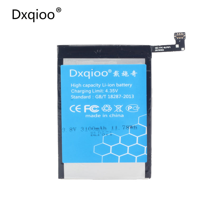 Dxqioo mobile phone battery 3000mah fit for OPPO A0001 one plus 1+ BLP571 batter