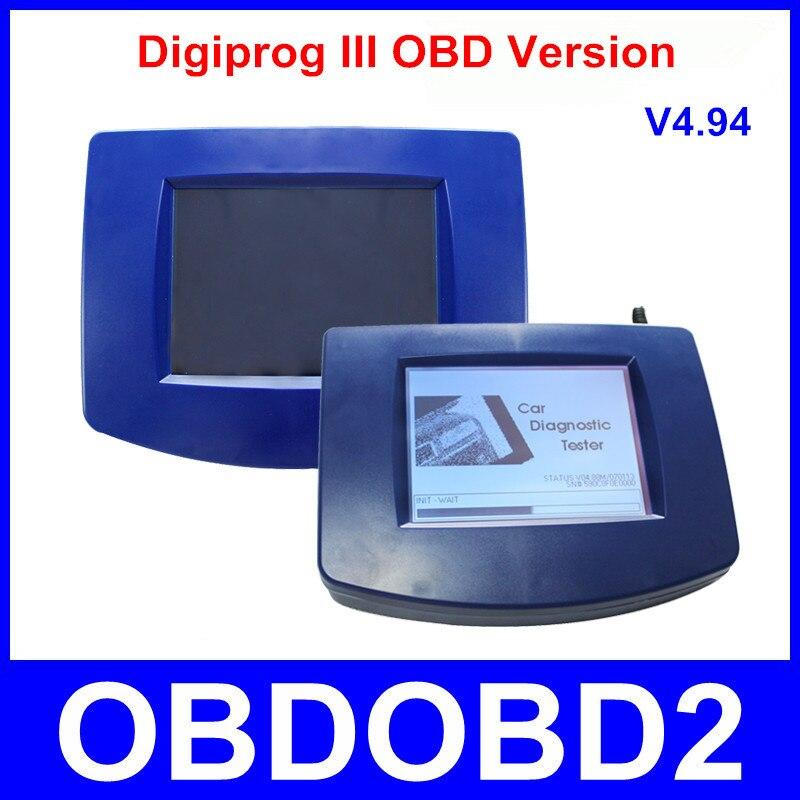 Newest Digiprog III OBD Version Main Unit Of Digiprog3 Odometer Programmer OBD2 ST01 ST04 Cables Digiprog