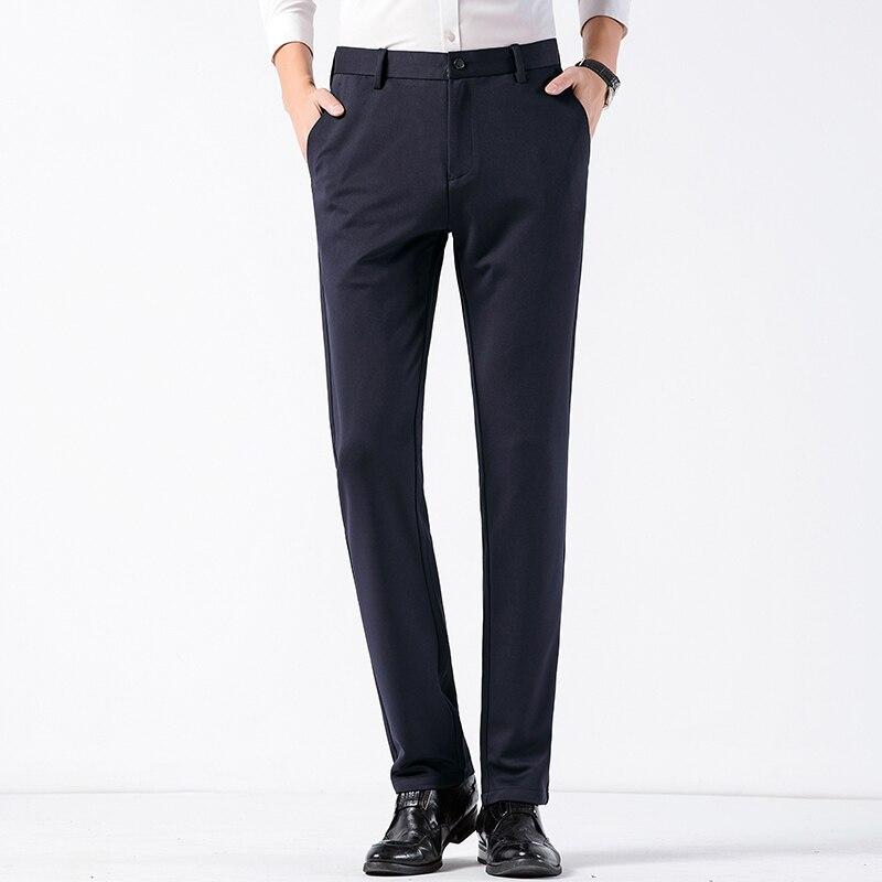 Men Dress Suit Pants Social Mens Dress Pants Black Navy Formal Slim Fit Pants Business Male Wedding Work Casual Men Trousers