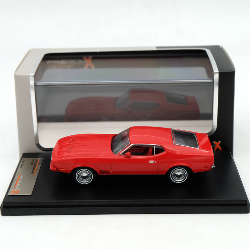 Premium X 1:43 Ford Mustang Mach 1 1971 Red PRD396J Resin Models Car Limited Edition Auto Collection ixo premium x 1 43 stutz blackhawk coupe 1971 red prd002 limited edition collection resin auto models