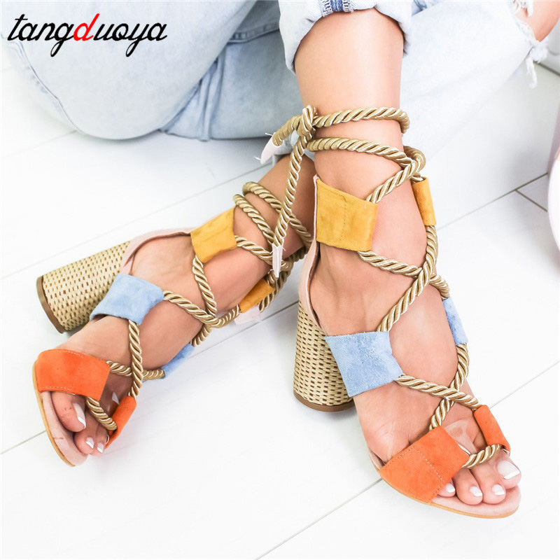 espadrilles women heels sandals <font><b>sexy</b></font> high heels pumps women <font><b>shoes</b></font> high heel sandals square heel open toe <font><b>shoes</b></font> woman big <font><b>size</b></font> 43 image