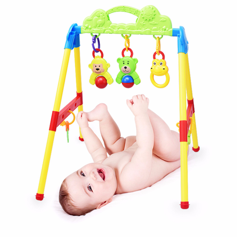 0-15 Months Baby Activity Gym Toys Bed Bell Learning And Education Wisdom Baby Rattles Mobiles High Quality ABS Materials