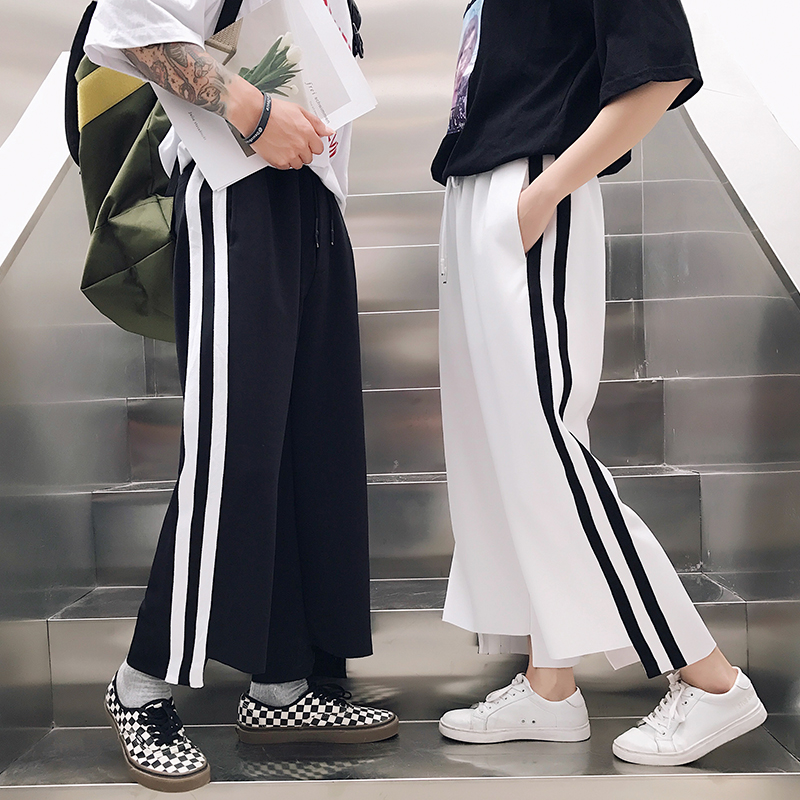 M-6XL!!! 2018  Big yards men's trousers Male summer all-match fashion ankle length trousers elastic   lovers casual wide