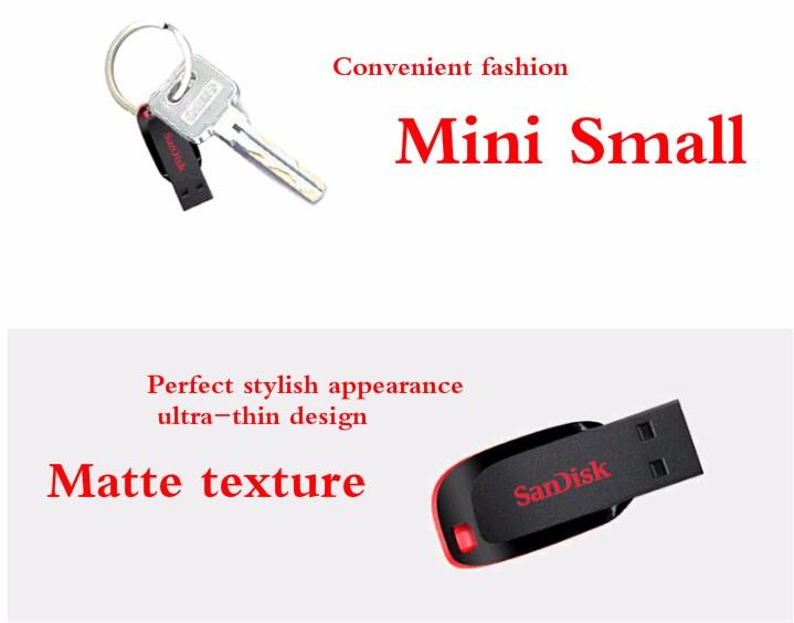 Sandisk CZ50 USB Flash Drive Encryption Mini Car USB Stick 8GB 16GB 32GB 64GB 128GB Memory Stick Pen Drives PenDrive USB Media Storage flash drive sandisk usb drive