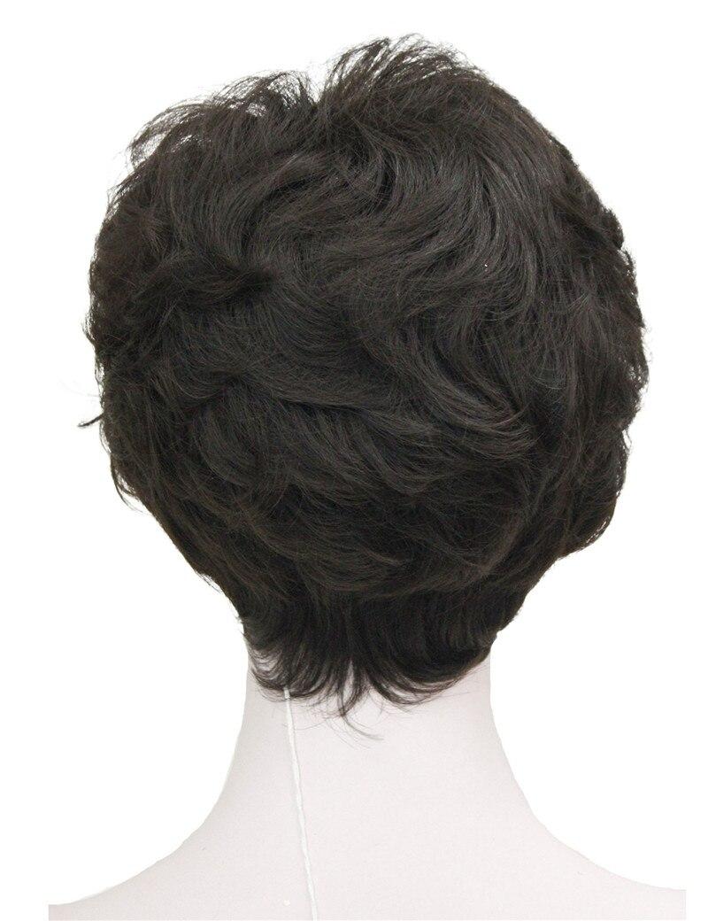 StrongBeauty Shag стиль синтетические парики короткие волнистые слоистые темно-Обурн пользовательские парики для афро-американских - Цвет: 6