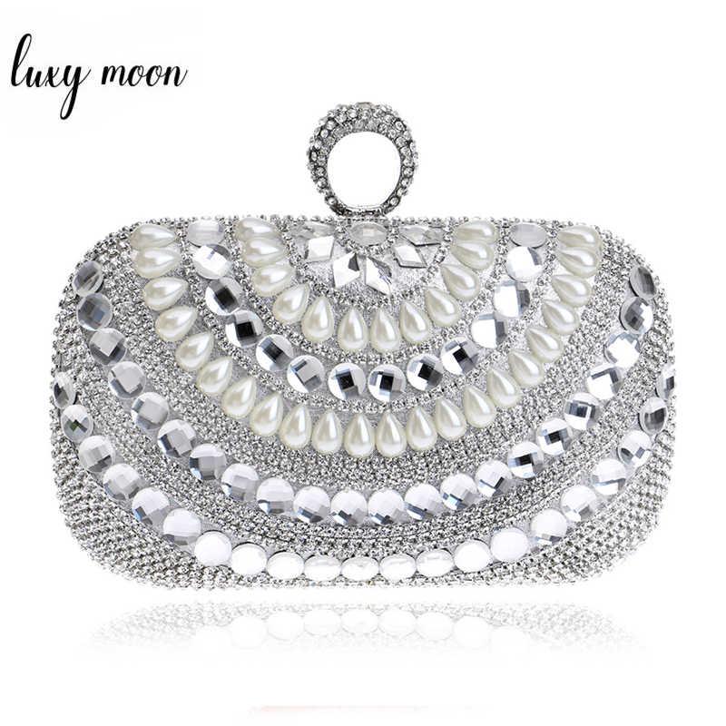 00394b575ee4 Перстни клатч роскошные алмаз вечерняя сумочка; BS010 цвета: золотистый,  серебристый Для женщин кристалл