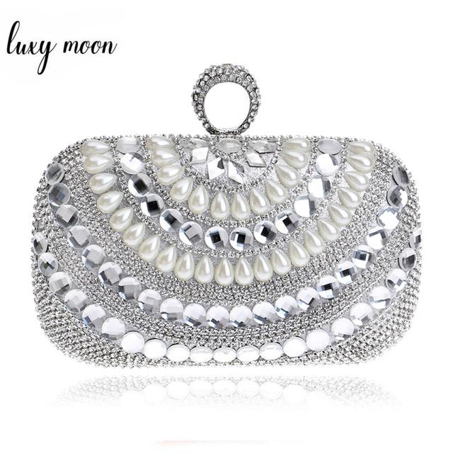 ddad1a9618 Finger Rings Clutch Bags Luxury Diamond Evening Bag Gold Silver Women Crystal  Clutches Wedding Party Purse