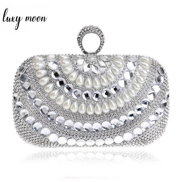 Jari Cincin Kopling Casing Mewah Diamond Malam Casing Emas Perak Wanita Kristal  Clutch Pesta Pernikahan Dompet fd4c9dc555