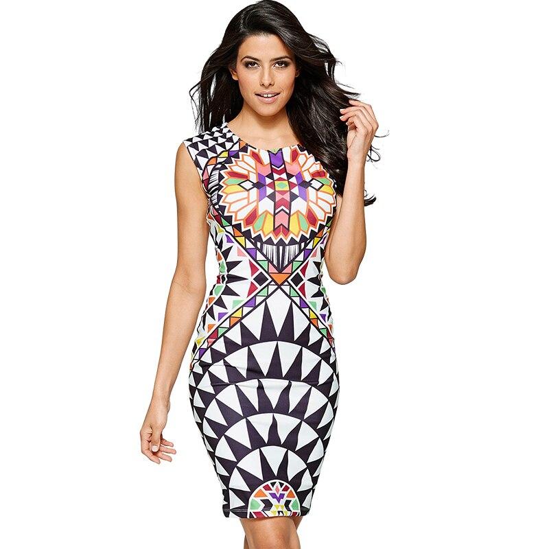 Buy Cheap Sell Like Hot Cakes New Vestidos Summer Tropical Floral Print Sleeveless Sheath O-Neck Knee-Length Dress Sexy Casual 2249