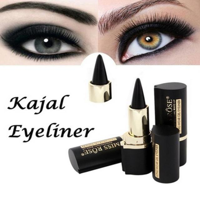 MLLE ROSE Wateroroof Maquillage Yeux Crayon Longwear Noir Gel Eye Liner Autocollant Eyeliner Maquillage EyeLiner lapis de olho delineador