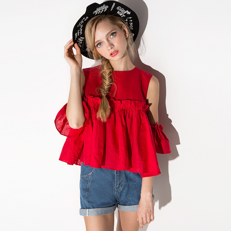 Europe And American Spring Summer New Women's Off Shoulder Loose T-shirts Women Girls Short Sleeve Plus Size Summer Tshirts Y55E