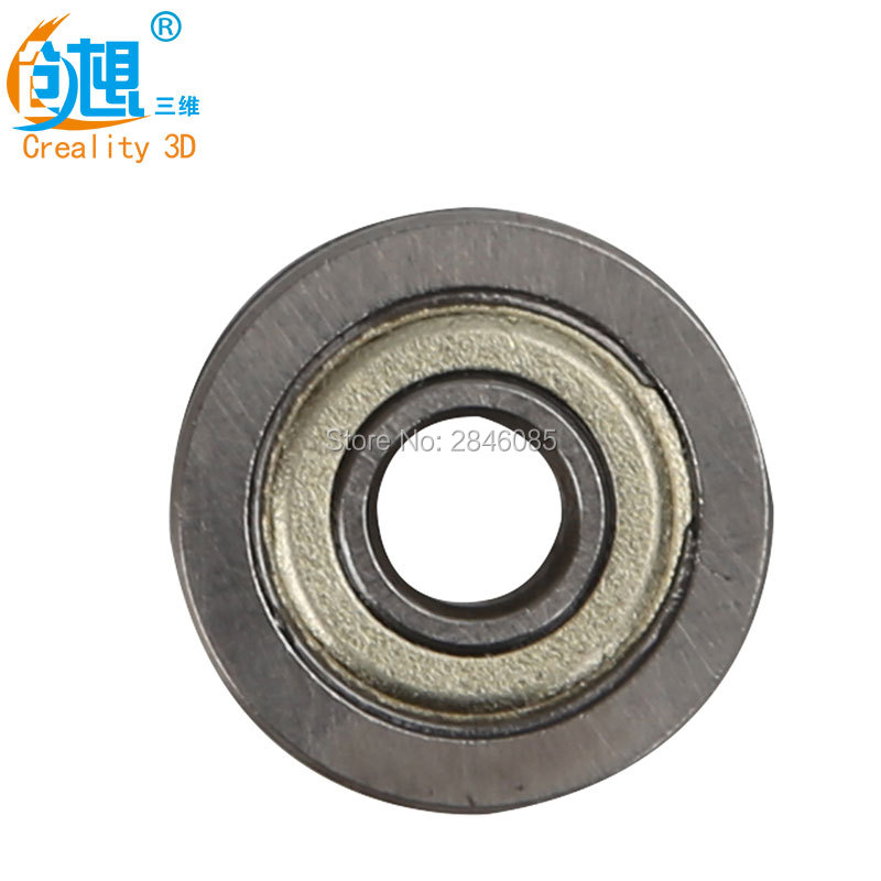 Wholesale Fedex/DHL Creality 3D Printer Extruder Accessories U Groove Guide Wheel Pulley Bearing U604ZZ with u Groove 4*13*4mm 1 piece bu3328 6 6 33 27 5 29 5 mm z25 guide rail u groove plastic roller embedded dual bearing