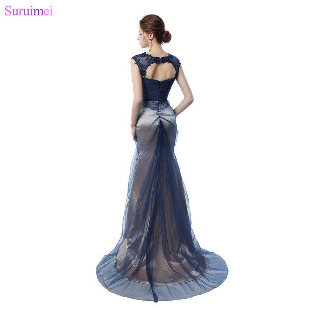 Online Shop Unique Contrast Color Mermaid Prom Dresses with Applique ...