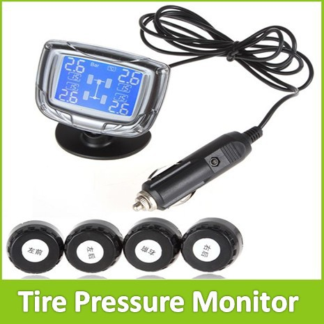 ФОТО IZTOSS InCTPMS-EXT01 TPMS LCD Auto Car Tire Tyre Pressure Monitor Monitoring Gauge System With 4 Sensors