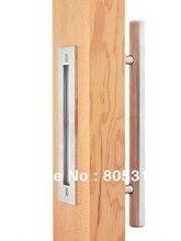 Diyhd Нержавеющая сталь Матовый Barn дверные ручки тянуть деревянный раздвижная дверь ручка
