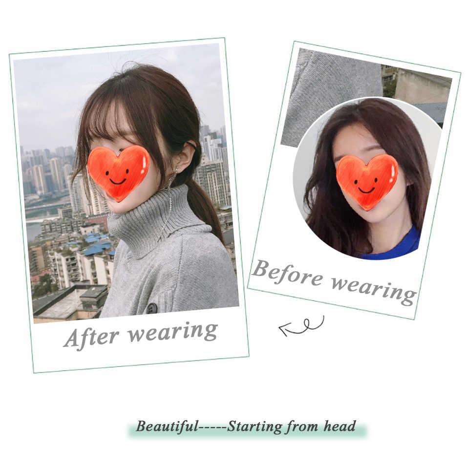 Peruca de cabelo invisível sem emenda da cabeça do ar do sexo feminino curto resistente ao calor sintético natural macio semelhante ao cabelo falso humano real