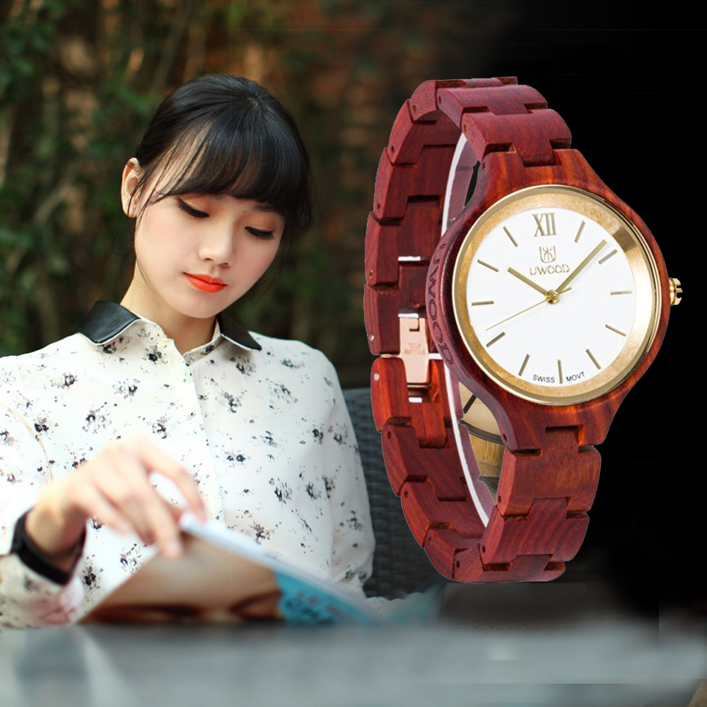 2018 Brand New Natural Sandal Wood Analog Watch Women Japan MIYOTA Quartz Movement Wooden Watches Dress Wristwatch For Women