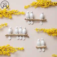 Resina Animal Pared colgante Birdie Pared decoración Pared pegatina Vinilos Adhesivos Decorativos decoración para el hogar