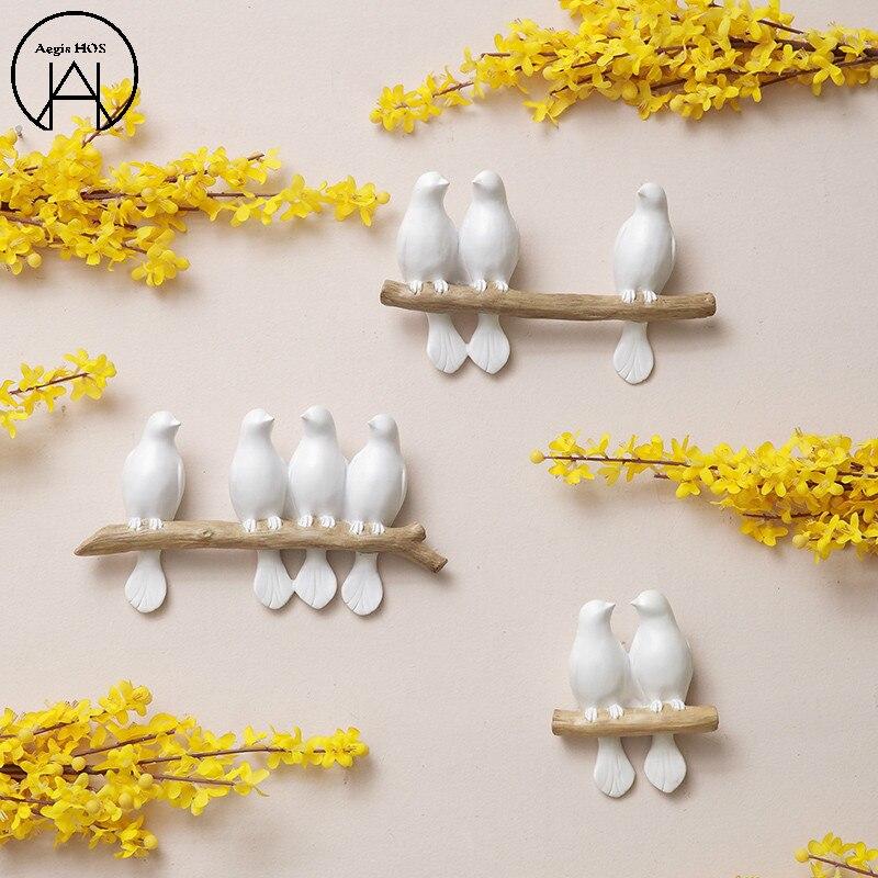 Resina animal parede pendurado birdie decoração da parede adesivo de parede vinilos adesivos decorativos pared decoração de casa
