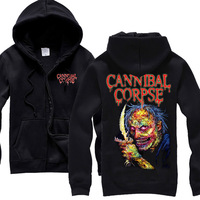 Heavy Metal Cannibal Corpse Men S Brain Removal Device Death Metal HOODIE