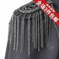 Girls male personality epaulette fashion british style badge tassel brooch badge