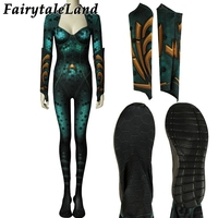 Aquaman Mera Jumpsuit Carnival Halloween Costume adult Women Cosplay Aquaman Mera Costume Sexy mermaid jumpsuit