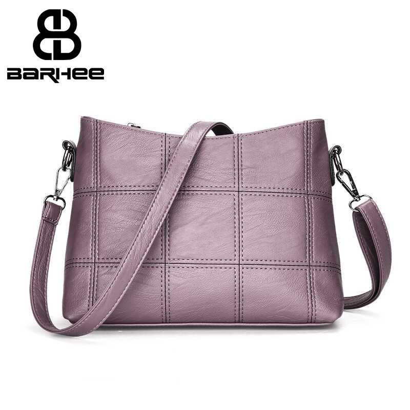 Women Plaid Messenger Bags Sac a Main PU Leather Shoulder Bags Lingge Women Crossbody Ba ...