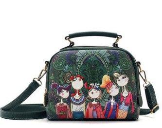 2018 new Designer chinese style 3d Printing bag Ladies handbag Women s  Shoulder Bags Leather Fashion Totes Bag GIRL JA002 bbb0721087