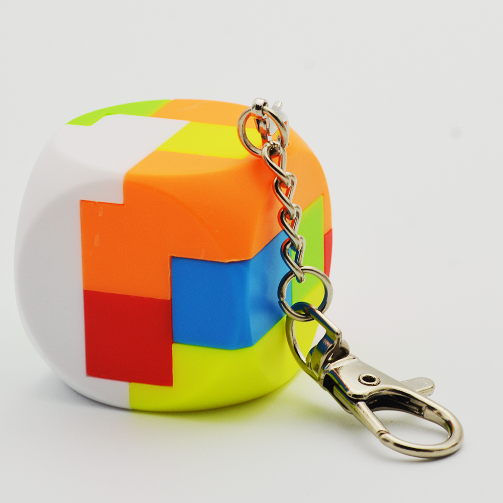 Contemplative Lefun Dice Keychain Stickerless magic Cube Keychain Special Toys For Children small Size