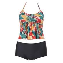 Swimwear 2018 Sexy Swimsuit Women Tankini Sets Swim Floral Printed Beach Wear Bathing Suits Female Bandage Monokini Swim Suit