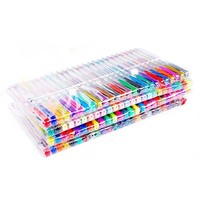 100 Gel Pens Coloring Pens Set for Adult Coloring Books Scrapbooking Drawing Writing Including Glitter Metallic Pastel Neon Sw