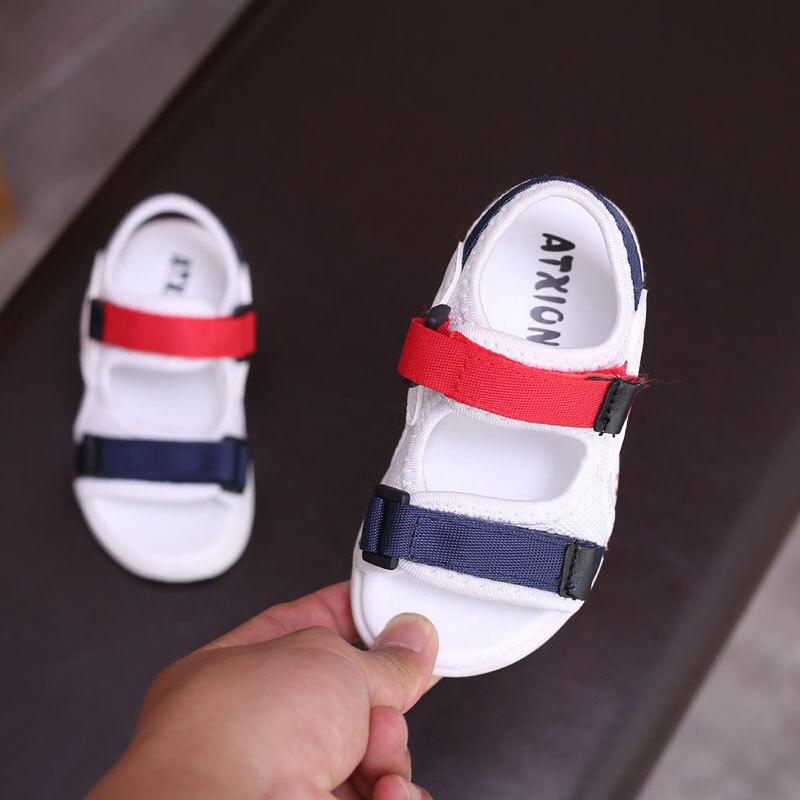 d8ced8a1f JUSTSL bebé niño sandalias de verano nuevo niño niñas zapatos de playa  niños sandalias casuales de los niños cómodos deporte sandalias tamaño 21-  30